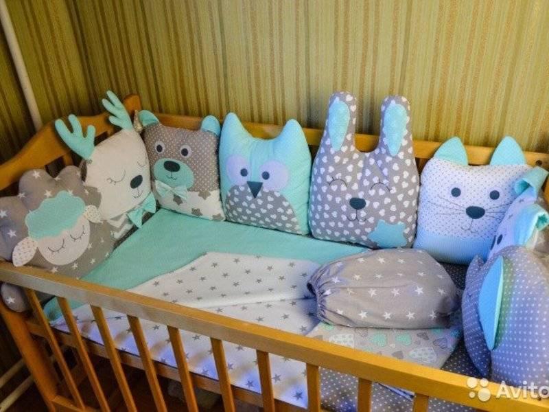 Рассказываем поэтапно: как сшить бортики- подушки в кроватку для новорожденных своими руками