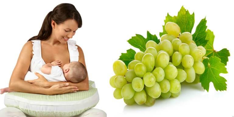 Можно ли виноград при грудном вскармливании: чем полезен зеленый, белый, красный, виноградный сок