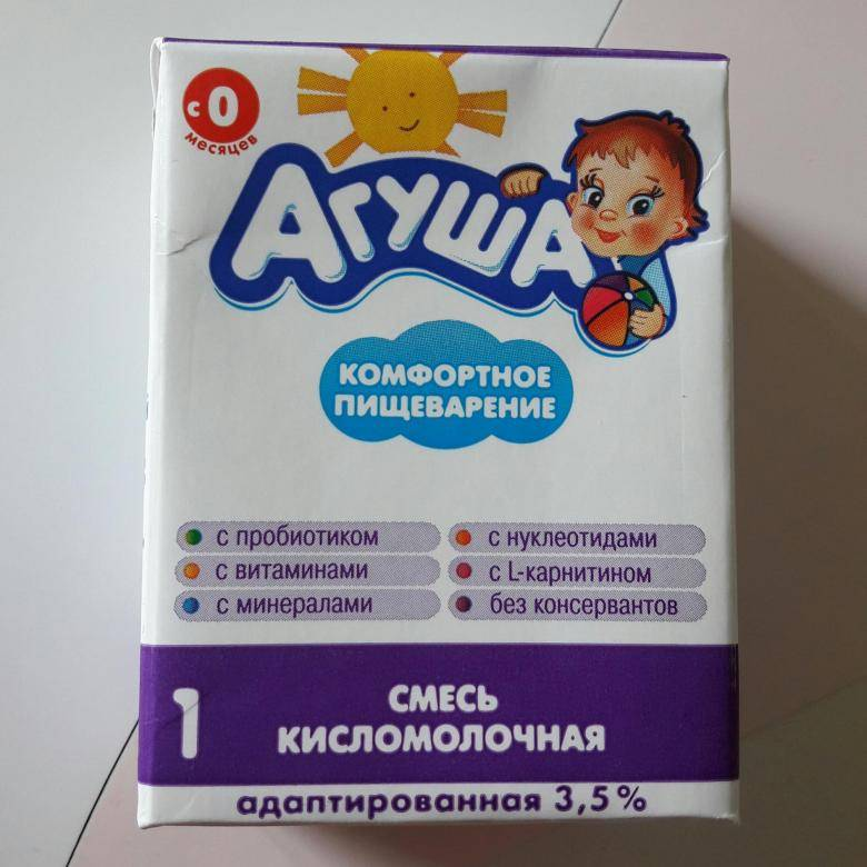 Кисломолочная смесь агуша: состав и обзор продукта