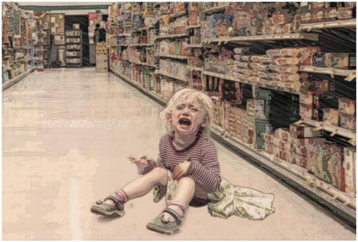 Истерики ребёнка в магазине: что делать родителям