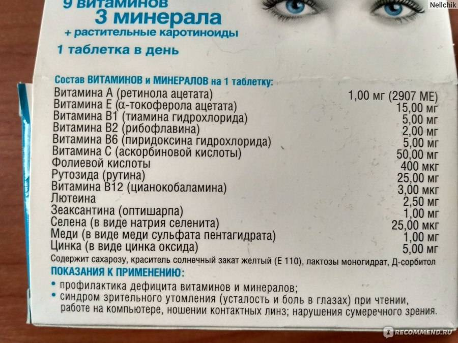 Витамины для глаз для детей
