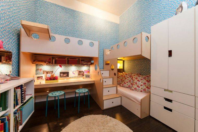 Детская комната для двух детей — идеи дизайна, правила оформления и зонирования комнаты (100 фото)