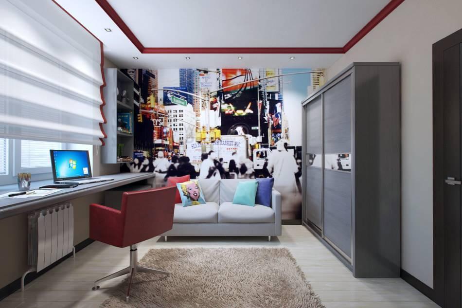 Дизайн комнаты мальчика-подростка в современном стиле (45 фото интерьеров)