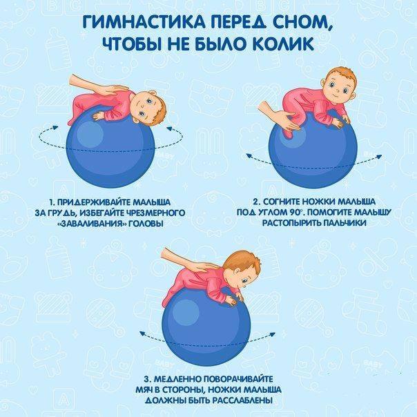 13 самых эффективных упражнений с фитболом для грудничков