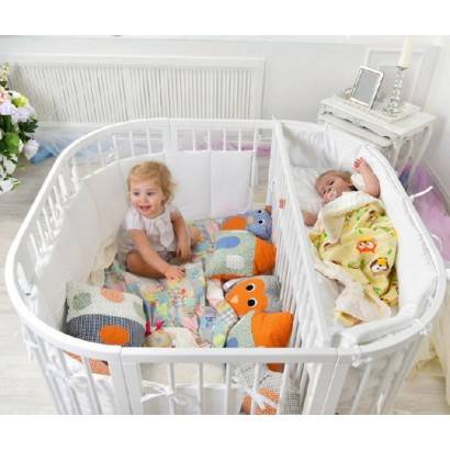 Кроватка для новорожденных двойняшек (36 фото): детская кровать для двойни