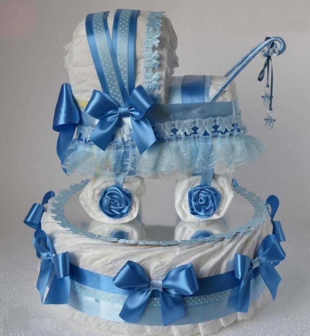 Торт из памперсов: какие материалы нужны для изготовления торта своими руками, пошаговый мастер-класс