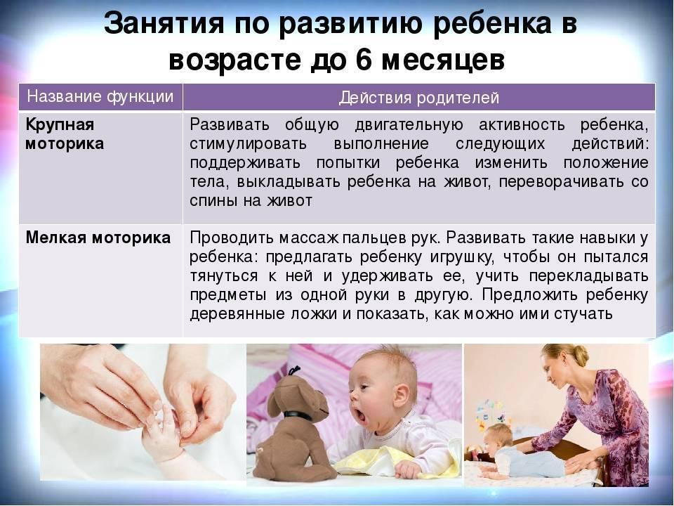 Развитие грудничка в 6 месяцев: физические навыки и умения