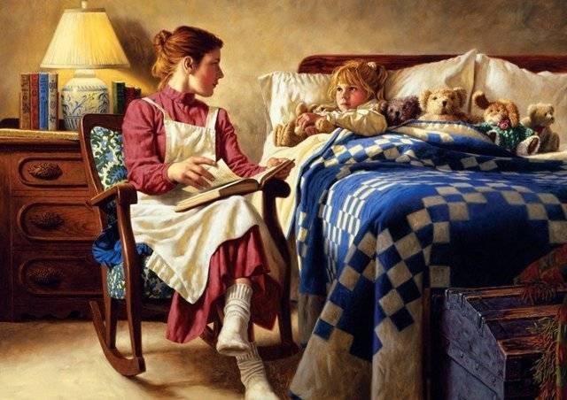 Почему так важна для ребенка мамина сказка на ночь