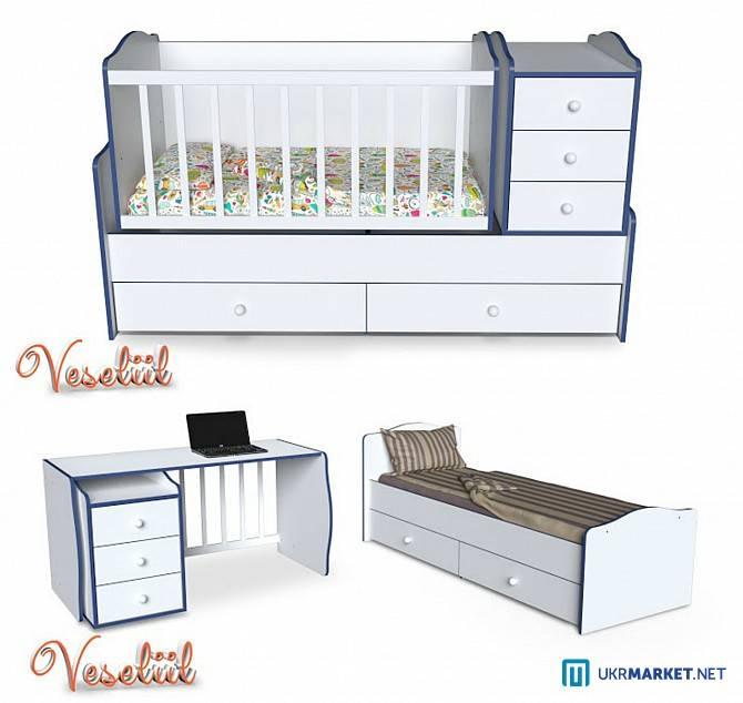 Кровать-трансформер для новорожденных (77 фото): детские кроватки-трансформеры с пеленальным столиком