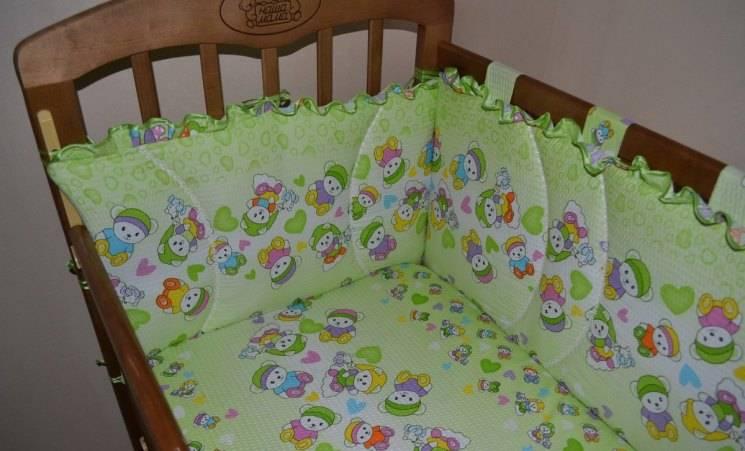 Бортики в кроватку для новорожденных своими руками: пошаговая инструкция