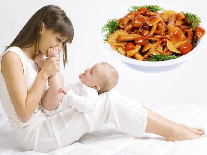 Грибы в питании кормящей матери: влияние на грудничка