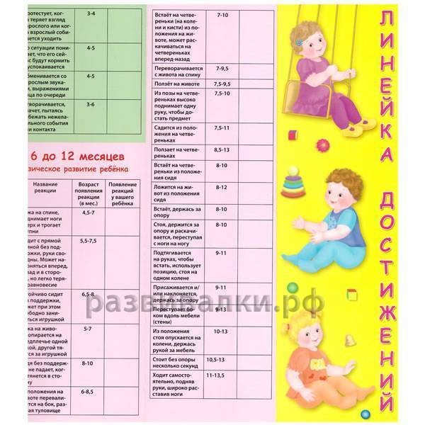 Развитие ребенка по месяцам до года: рост, вес, что должен уметь