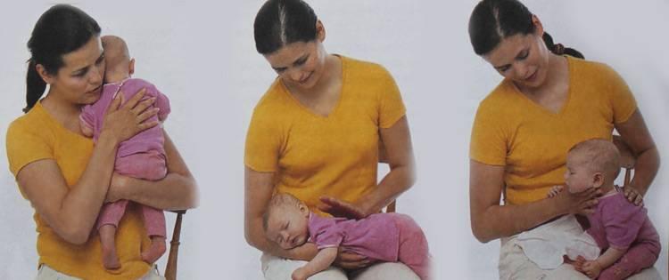 Как держать новорожденного ребенка столбиком после кормления |