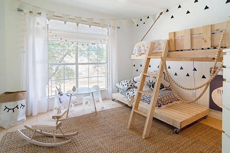 Скандинавский стиль в интерьере комнаты подростка