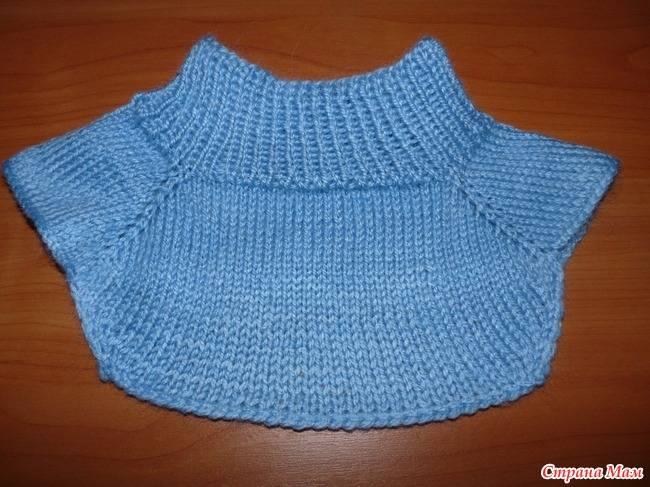 """Гардероб новый год вязание спицами манишка на двух спицах для """"чайников"""" мк пряжа"""