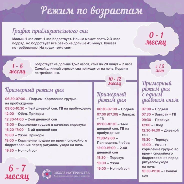 Режим дня ребенка в 4 месяца: примерный распорядок и как приучить малыша