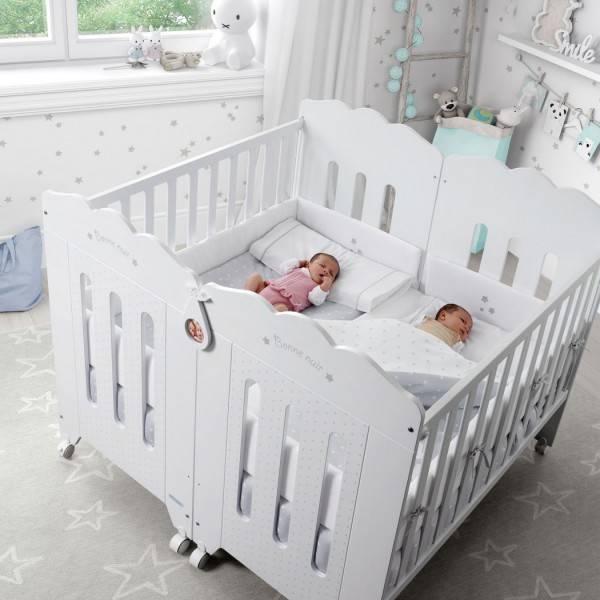Кровать для двойни новорожденных - варианты   как выбрать