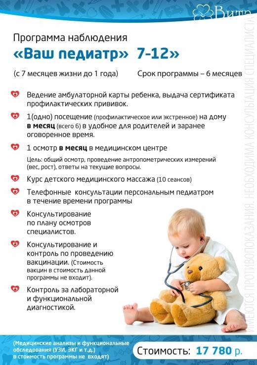 Консультации для родителей   детей от 2 месяцев до 1 года