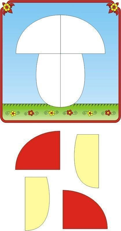 Аппликация и поделки с детьми 1-2 лет (с шаблонами)
