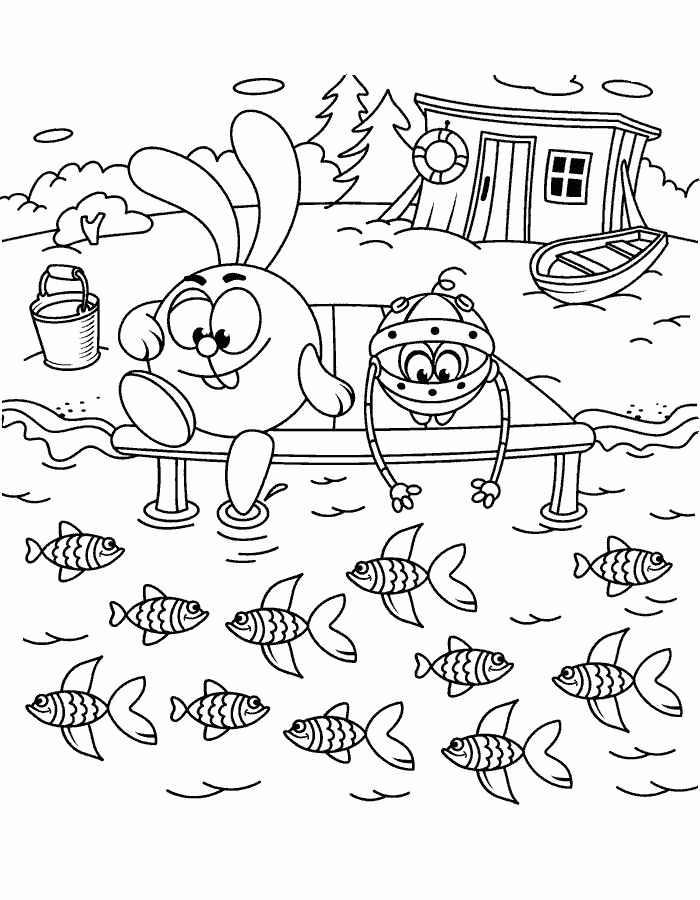 Раскраски смешарики. лучшие картинки для детей скачивайте и распечатывайте