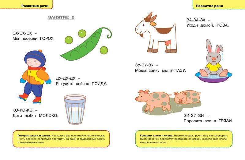 Игры на развитие речи у детей от 1 до 2 лет
