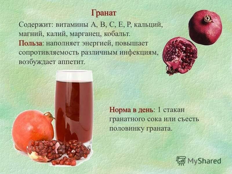 Гранатовый сок для женщины