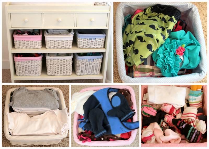 Как правильно хранить детскую одежду на вырост?