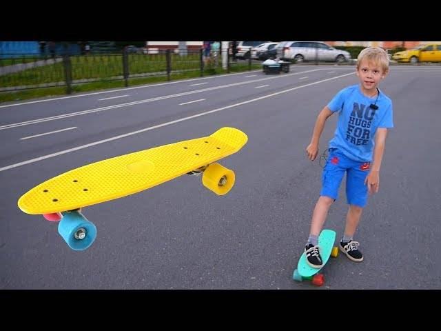 Как без проблем научиться кататься на скейтборде ребенку?