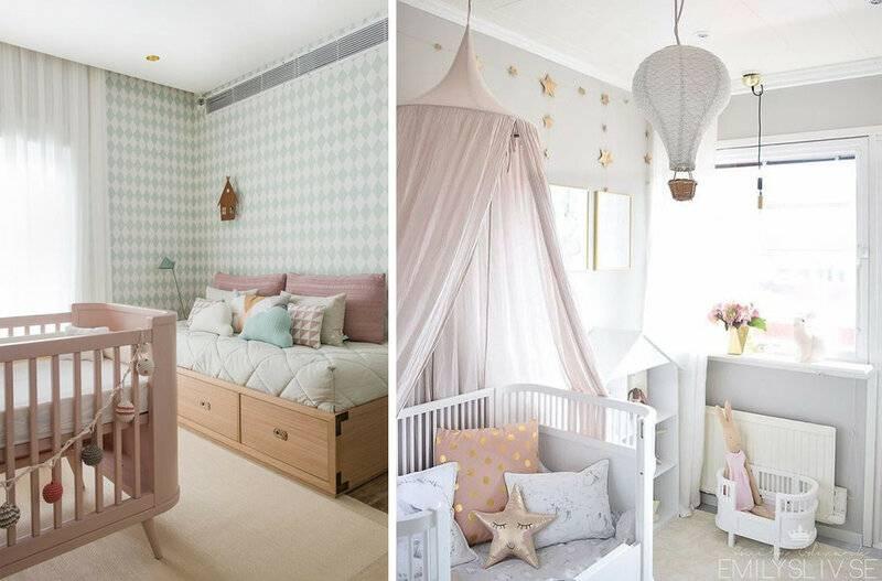 Интерьер детской комнаты для новорожденного