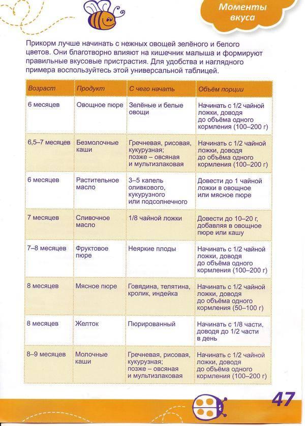 Питание ребенка в 8 месяцев: рацион питания и приблизительное меню. план питания и советы по выбору продуктов