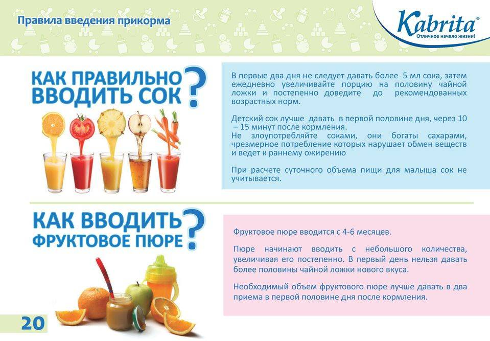 Как вводить сок в прикорм, со скольки месяцев можно давать ребенку и какие
