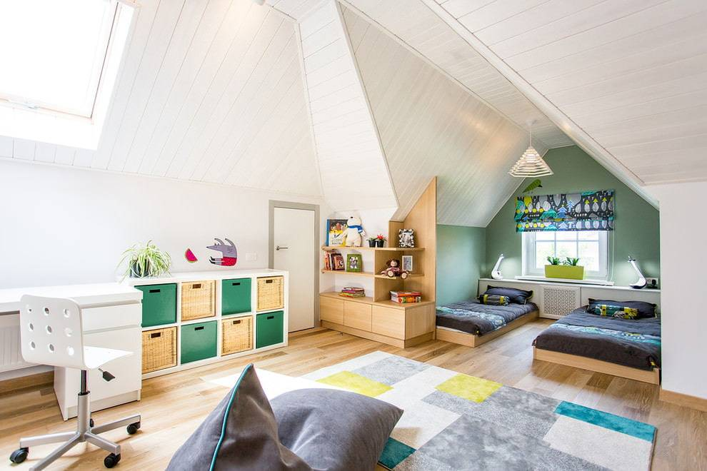 Детская спальня: дизайн комнаты для девочки и для мальчика - 23 фото