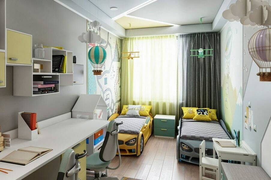 Детская комната для двух мальчиков фото новинок