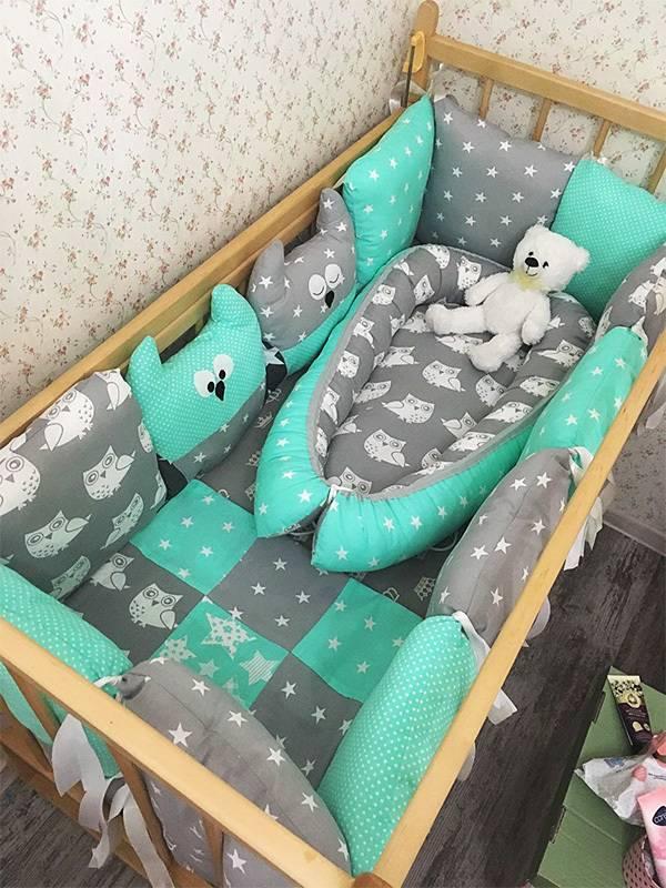 Как сделать бортик (бампер) в детскую кроватку своими руками