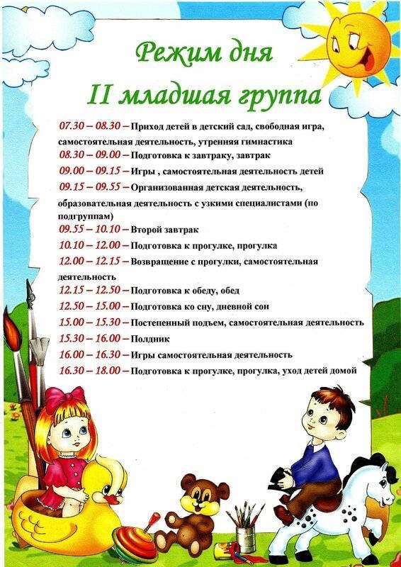 Какой режим дня в детском саду: младшая и старшая группа
