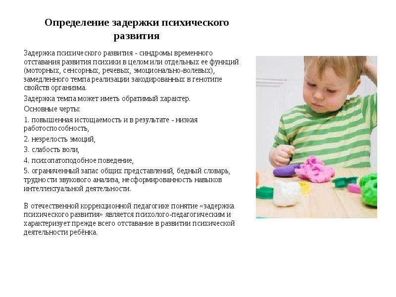 Коррекционная работа с детьми с задержкой психического развития