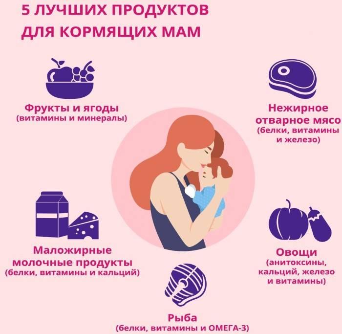Продукты, повышающие лактацию грудного молока в рационе кормящей матери, а также снижающие его выработку