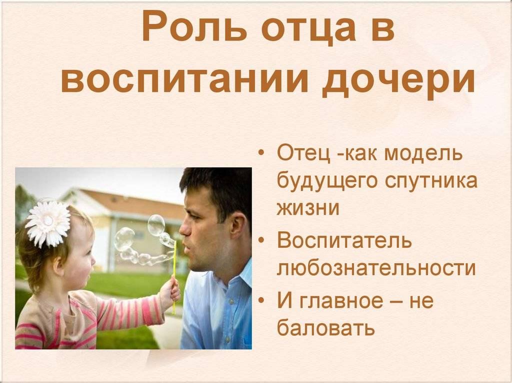 Роль отца в воспитании ребенка от а до я