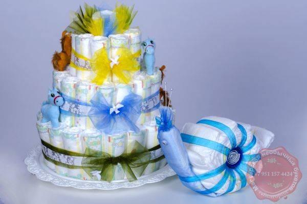 """Оригинальный подарок — торт из памперсов своими руками. пошаговая инструкция приготовления торта из памперсов (фото)   онлайн журнал """"женские разговоры"""""""