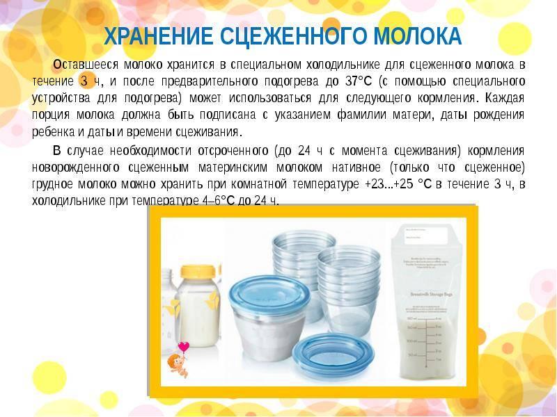 Сколько может храниться грудное молоко при комнатной температуре