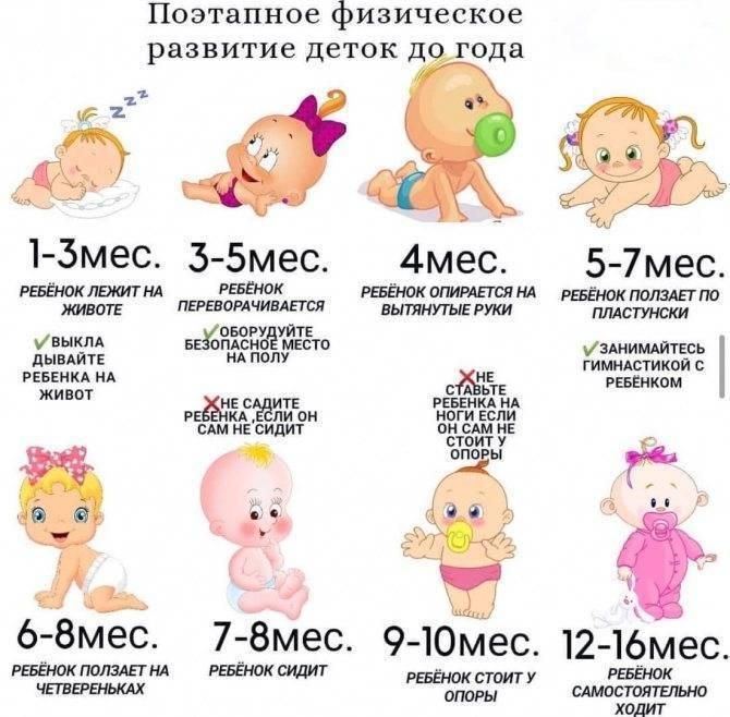 Каким должен быть ребенок в 2 месяца и что должен уметь