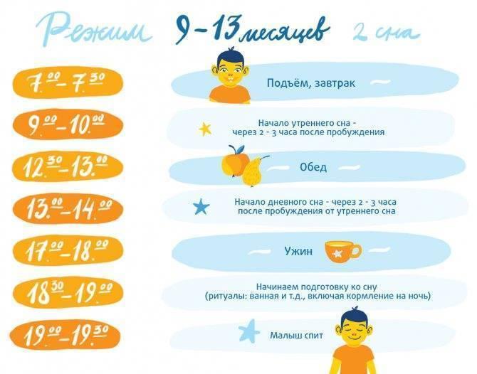 Режим детей от 1 до 4 лет