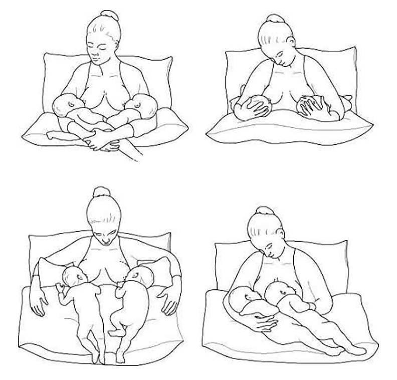 Позы для кормления: 14позиций лежа, сидя истоя