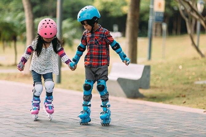Как научить ребенка кататься на роликах: упражнения, выбор роликов и меры безопасности