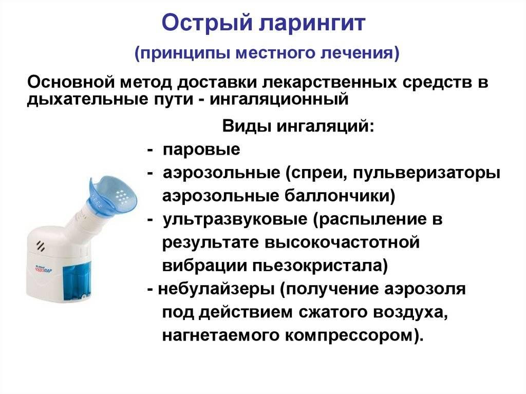 Антибиотики при ларингите