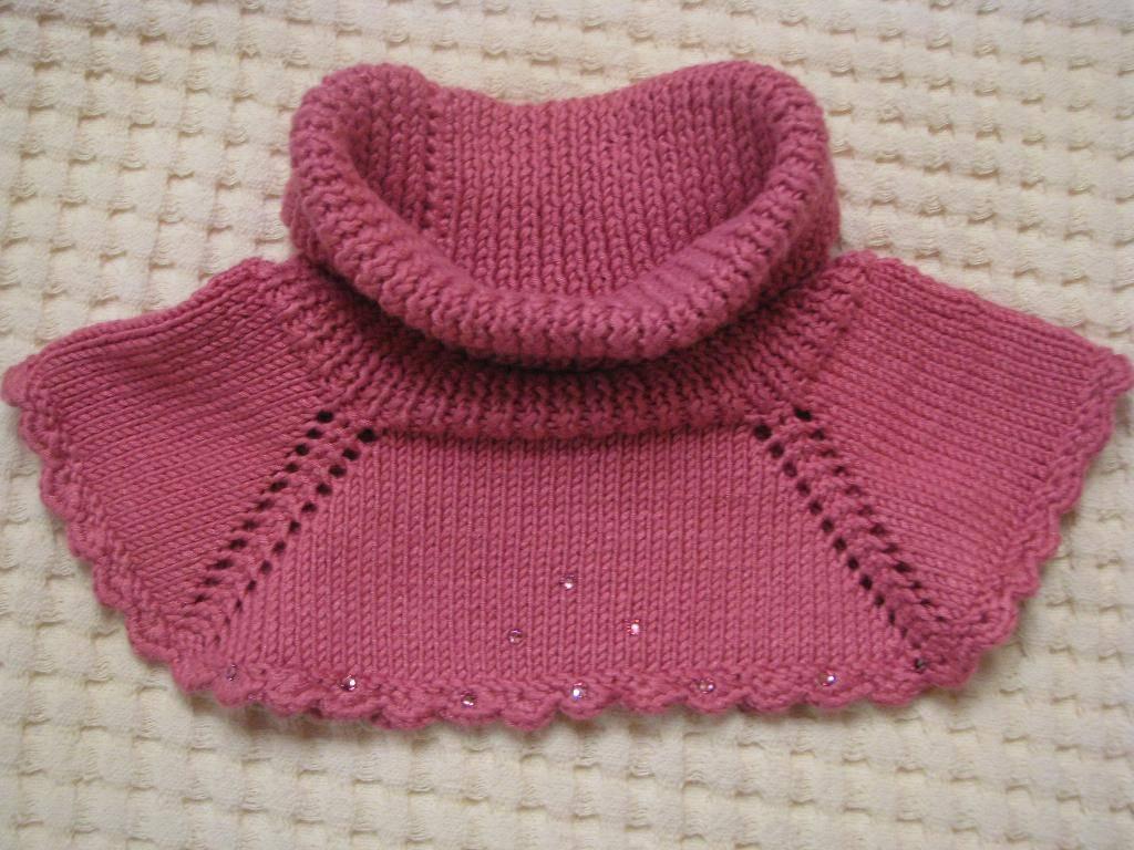 Вязание манишки спицами для детей