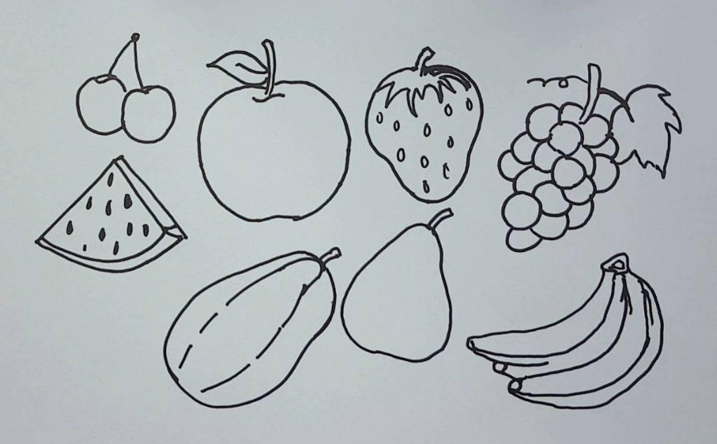 Как нарисовать овощи и фрукты на тарелке: аппликация фрукты и овощи - 74 фото идеи аппликаций для детей уроки рисования для начинающих, мультики, раскраски.