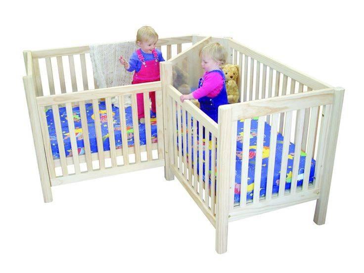 Кроватка для двойни новорожденных, выбор детских кроватей
