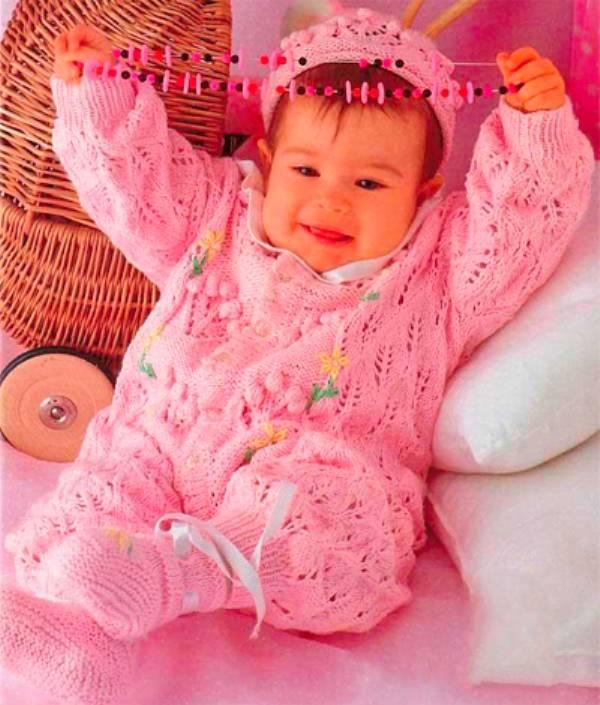 Вязание для детей спицами - модели со схемами и описанием вязания на спицах для новорожденных
