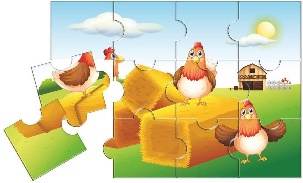 Детские развивающие деревянные пазлы для малышей и дошкольников